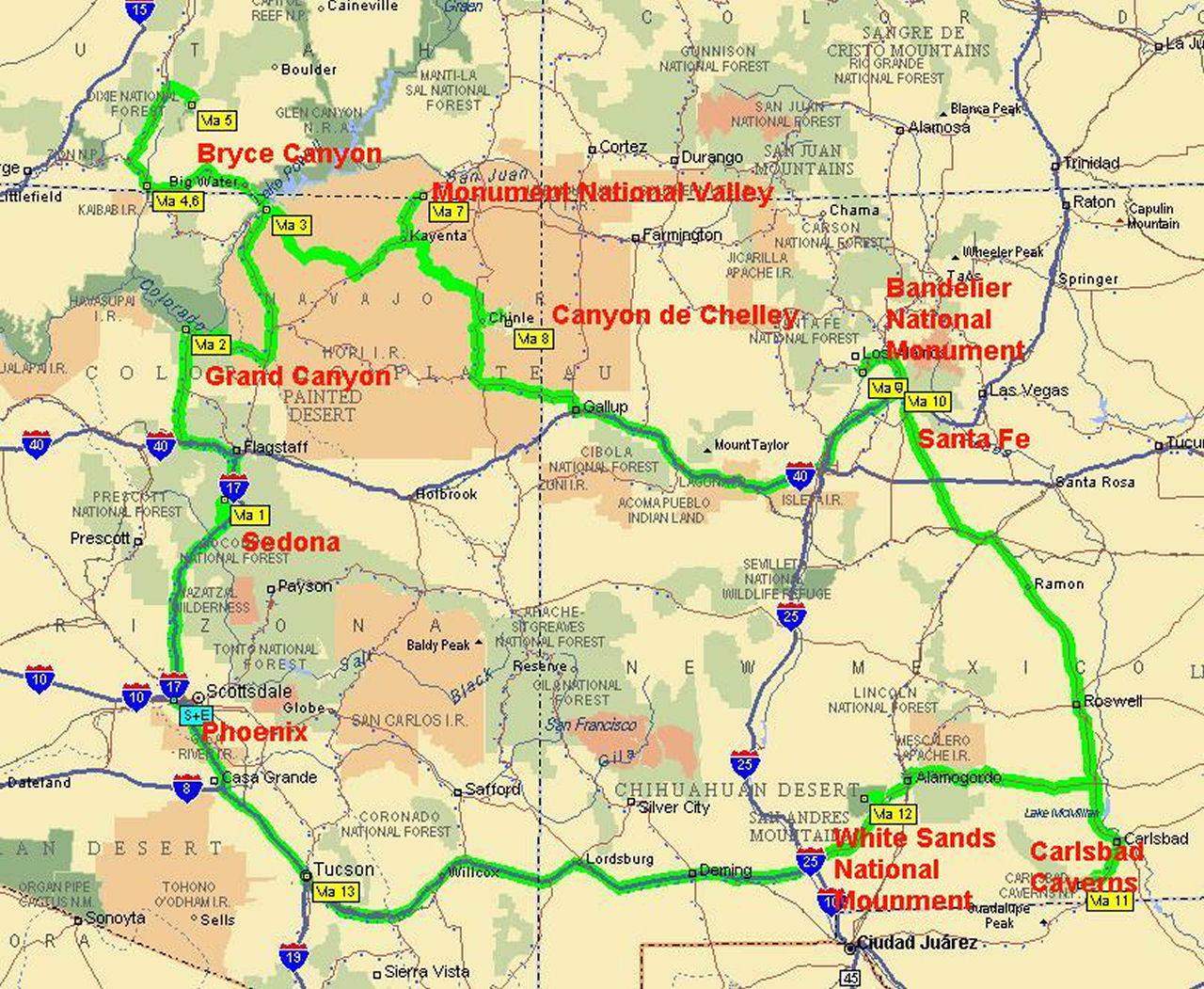 map of arizona - Teacheng.us