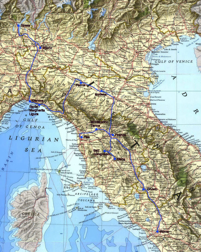 Italy 2004 – Northern Italy Map Tourist